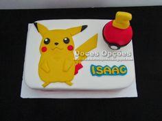 Doces Opções: Bolo com o Pokemon para o aniversário do Isaac