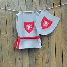 Gray and Red Knight Costume Embroidered di SageNThymeDesigns, $30,00