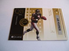 2001 Upper Deck Michael Vick E-Card not scratched off. #AtlantaFalcons