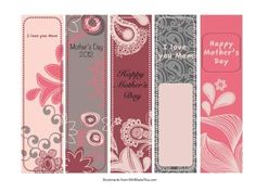 Free Printable Bookmarks for Mothers Day jessyloo