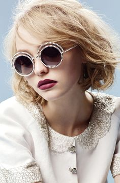 Lily-Rose Depp photographed by Karl Lagerfeld for Chanel Eyewear Autumn/Winter 2015 campaign via fashioned by love british fashion blog