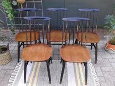 Vintage spijlenstoelen Pastoe Tapiovaara spijlenstoel stoel
