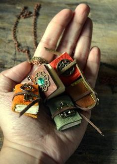 Miniature Tan Leather Journal Necklace with Camera Charm/Made-to-Order Book Necklace Handmade Books, Handmade Christmas Gifts, Handmade Gifts, Handmade Notebook, Handmade Bracelets, Book Necklace, Bottle Necklace, Book Jewelry, Miniature Crafts