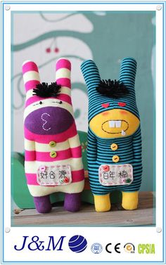 Christamas cute Hand knitted handmade Soft Cotton Sock Toys sock doll