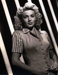 1940s hair Lana Turner gorgeous pinup pin curls