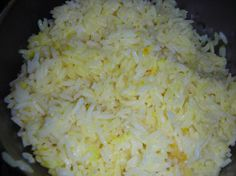 Classic Saffron Rice from Food.com:   This is easy, simple and wonderful.  The original recipe which was printed in the Spring 2005 Penzeys catalog, calls for long-grain rice; however, I liked it much better with basmati. Also, the original recipe called for minced onion but I found it worked very well with dried onion.  I indicated that the butter is optional, because I did not add it.
