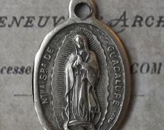 HUGE SALE Our Lady Of Guadalupe Patron of the Americas, Blessed Virgin Mary Mother Of God, Pray For Us Italian Holy Medal
