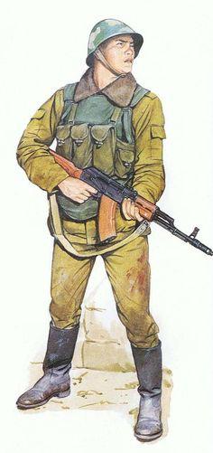 Soviet motor rifle, Afganistán, invierno de 1986. Pin by Paolo Marzioli