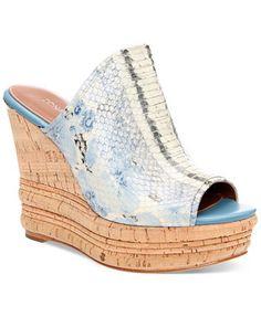 Donald J Pliner Tulum Platform Wedge Slide Sandals