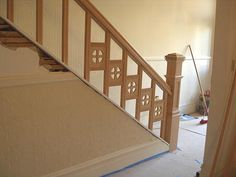 Building a Staircase Banister Visit wood railing at http://awoodrailing.com