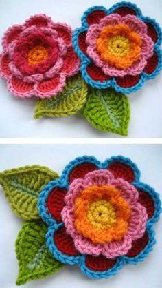 flores-de-croche-florescroche3.jpg (610×1083)