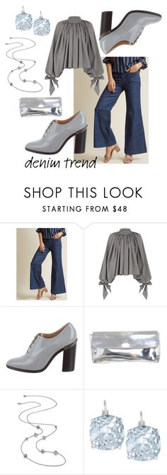 """""""Untitled #3531"""" by moestesoh ❤ liked on Polyvore featuring Wrangler, A.W.A.K.E., Reed Krakoff, Furla, Kate Spade, denimtrend and widelegjeans"""
