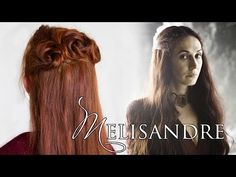 Game of Thrones Hair Tutorial for Melisandre, the Red Woman - YouTube