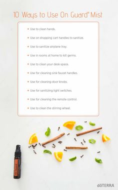 Infused with the doTERRA On Guard Protective Blend you've grown to love, the active ingredient in doTERRA On Guard Sanitizing Mist kills 99.9 percent of germs and bacteria. Check out the different ways you can use this sanitizing mist.