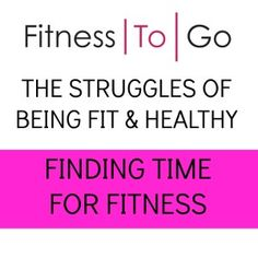 Do you find it difficult to schedule a workout into your busy schedule? Here are my tips for finding time for fitness
