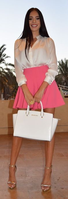 #summer #fashionistas #laurabadura #klaudiabadura |  Whites + Pink