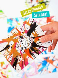 How to Make Spin Art- Without the machine!