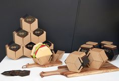 """Interactive burger boxes and a unique reward system could help """"Burger Stream"""" stand out in Melbourne's busy food delivery market. Created by MADA Industrial Design grad Daryl Wong.  #industrialdesign #monashada"""