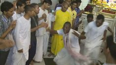 West African Iskcon devotees recently visited ISKCON JUHU, Mumbai, and astonished everybody with their energetic and joyful chanting…