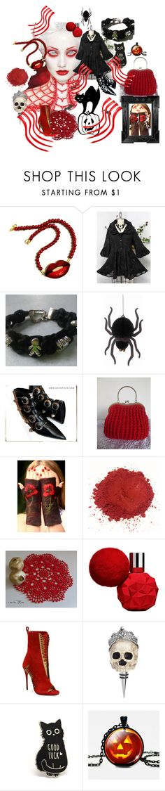 """""""halloween in red"""" by justforyouhm on Polyvore featuring moda, Christian Louboutin, Linda Horn e K&K Interiors"""