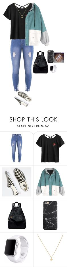"""""""Untitled #2933"""" by anisaortiz ❤ liked on Polyvore featuring Lipsy, Vans and Apple"""