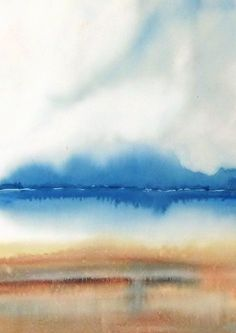 Landscape Watercolor Painting Print Landscape by NancyKnightArt