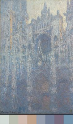 """""""Everything changes, even stone."""" —Monet  The colors of Rouen Cathedral in morning light in 1894."""