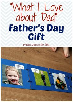 What I Love about Dad Father's Day Gift