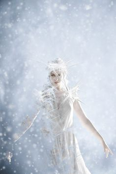 "Lately I saw so many ""Ice Queen"" pictures on that I really felt inspired to do an own piece of this kind. I used one of the gorgeous stocks of for the m. Snow Queen, Ice Queen, Snow And Ice, Fire And Ice, Fantasy World, Fantasy Art, Fantasy Makeup, Top Imagem, Fantasy Photography"