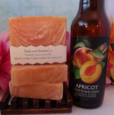 PEACHY APRICOT Beer and Goat's Milk Handmade Cold by SudsNScentsCo