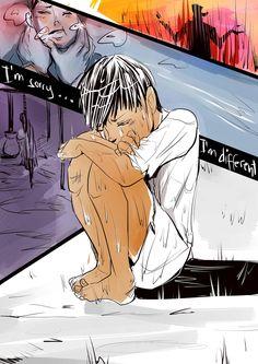 Magnus as a child, so sad.