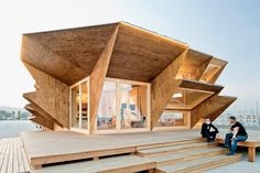 IAAC: endesa solar pavilion via Designboom - amazing use of OSB