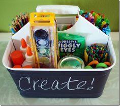 Get Organized: Kid's Art Supplies