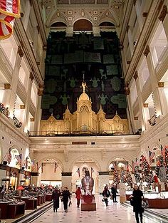 Wannamakers organ (now Philadelphia Macy's) Last time I heard, they were still doing noontime organ concerts.