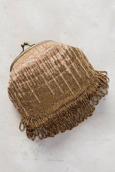 at anthropologie Velella Beaded Clutch - gold