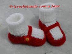 Resultado de imagem para sapato de trico passo a passo