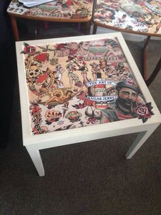 Upcycled Sailor Jerry Decoupage Table By Taylor Made Http://www.facebook.com/taylormadexox