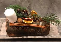 How To Make A Christmas Yule Log - by Helen Fichtel - International Elf Service Christmas Yule Log, Christmas Crafts, Christmas Decorations, Rustic Centerpieces, Winter Activities, Wicca, Witchcraft, Elf, Simple