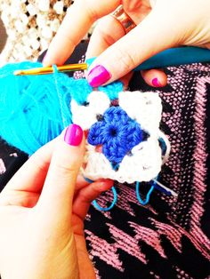 Crochet at the Folksy Summer School. Photo by Ruby McGrath http://folksy.com/shops/FrankandOlive
