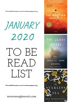 Join our book linkup and share your TBR list for January! My January TBR includes The Glass Hotel, The Starless Sea, and an old favorite. I'm starting my 2020 reading with a wide mix of books! Book Club Books, Book Lists, Good Books, Books To Read, Station Eleven, Best Biographies, Biography Books, Book Recommendations, Love Book