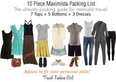 15 Piece Maximista Packing List #travel #fashion #packinglist via TravelFashionGirl.com
