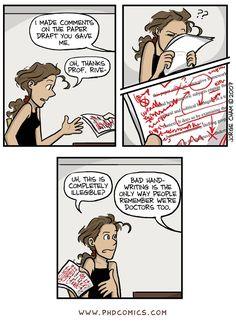 Best of PHD Comics :: Bad handwriting | Best of Paper Revisions | Tapastic Comics - image 1