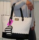 ❧∫ #NWT Betsey Johnson #shoppers Tote 2 in 1 Be #Mine  handbag purse  Cream/... Act http://j.mp/2nEGmy1