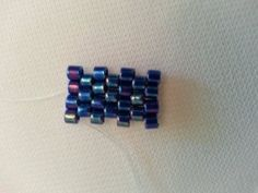 Flat Odd Count Peyote Stitch - YouTube