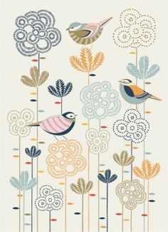 pourquoi pas sur un mur chez moi Millie Marotta — Gretel in the Forest. inspiration for future mural in ae's room Bird Illustration, Pattern Illustration, Illustrations, Pattern Art, Pattern Design, Print Patterns, Motif Floral, Whimsical Art, Bird Art