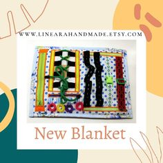Autism awareness blanket | Play mat | Fidget toy by Linearahandmade