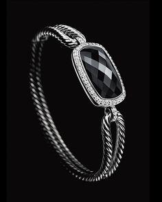 Albion bracelet with black onyx and diamonds.