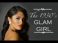 The 1930's Glam Girl: How To Do Faux Finger Waves + Bold 1930's Makeup -MADSCustomHairDesign - YouTube