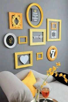 Cute wall art. Love the color contrast.