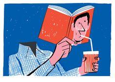 Sediento de lectura o lector sediento? (ilustración de Joao Fazenda)